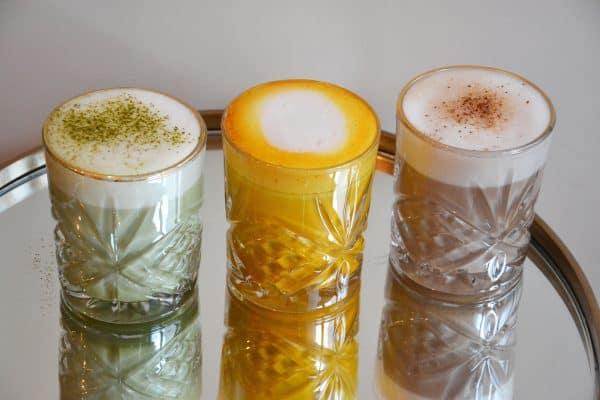 Fancy Heißgetränke – Matcha, Kurkuma & Earl Grey Latte